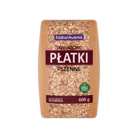 NaturAvena Ekologiczne płatki pszenne 600 g
