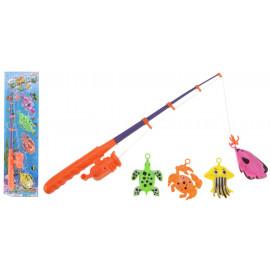 Wędka do zabawy 42 cm+ 4 rybki