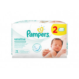 Pampers Sensitive chusteczki dla niemowląt 2 x 56 sztuk