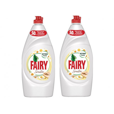Fairy Sensitive Chamomile & Vit E Płyn do mycia naczyń 2x900 ml