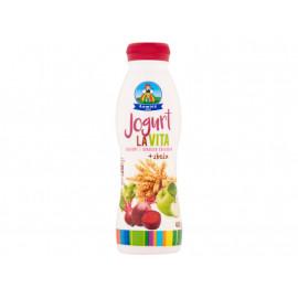 Łowicz Jogurt LaVita jabłkowy z burakiem ćwikłowym + zboża  400 g