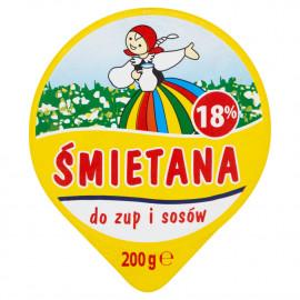 Łowicz Śmietana do zup i sosów 18% 200 g