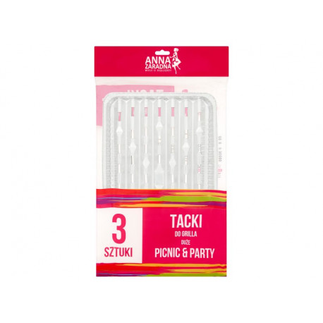 Anna Zaradna Picnic & Party Tacki do grilla duże 3 sztuki