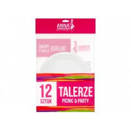 Anna Zaradna Picnic & Party Talerze 12 sztuk