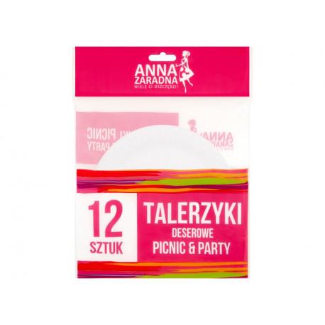 Anna Zaradna Picnic & Party Talerzyki deserowe 12 sztuk