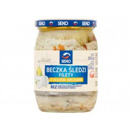 Seko Beczka śledzi Filety z olejem wiejskim 550 g