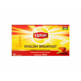 Lipton English Breakfast Herbata czarna 100 g (50 torebek)