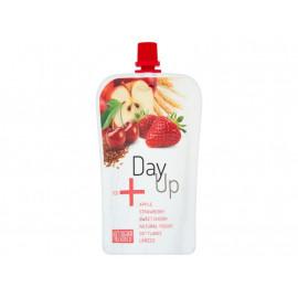 DayUp Red Puree jabłkowe z jogurtem naturalnym truskawką czereśnią i płatkami 120 g
