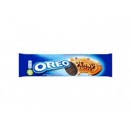Oreo Ciastka kakaowe z nadzieniem o smaku masła orzechowego 154 g