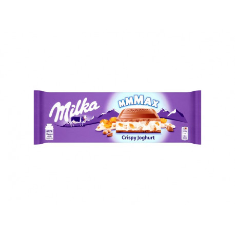 Milka Mmmax Czekolada mleczna Crispy Joghurt 300 g