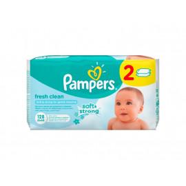 Pampers Fresh Clean Chusteczki dla niemowląt, 2 x 64 sztuki