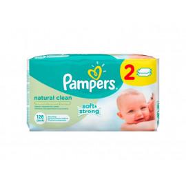Pampers Natural Clean chusteczki dla niemowląt 2 x 64 sztuki