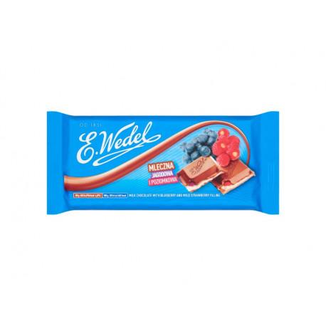 E. Wedel Czekolada mleczna jagodowa i poziomkowa 100 g