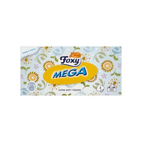 Foxy Mega Ultra miękkie chusteczki 2 warstwy 200 sztuk