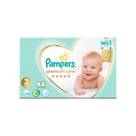 Pampers Premium Care, Rozmiar 3, 120 pieluszki, 6kg-10kg