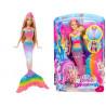 Mattel Lalka Barbie- tęczowa syrenka (świecąca )DHC40