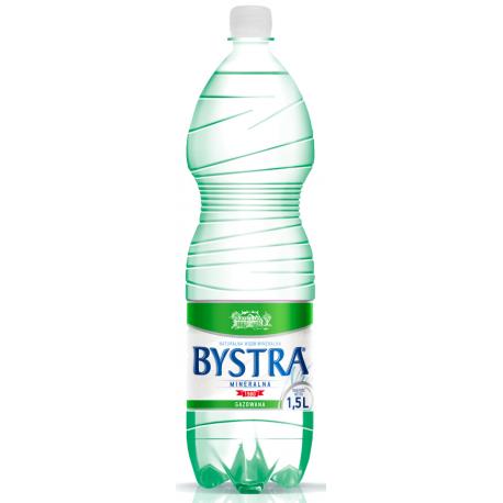 BYSTRA WODA GAZOWANA 1,5L