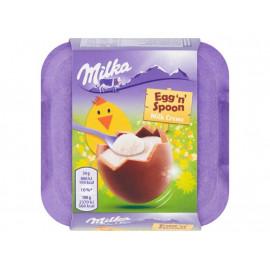 Milka Egg 'n' Spoon Czekolada mleczna z nadzieniem mlecznym 136 g (4 x 34 g)