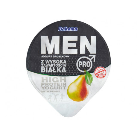 Bakoma Men Pro Jogurt gruszkowy z wysoką zawartością białka 200 g