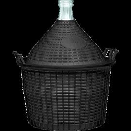 BROWIN Balon do wina w koszu plastikowym 20L