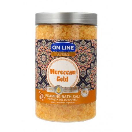 On Line Senses Pieniąca Sól do kąpieli Maroccan Gold 480g