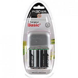 Foxter Ładowarka Basic' +4 szt Akumulatorów