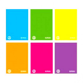 Herlitz brulion twarda oprawa color blocking A6/96K/Kratka (notes)