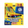 Astra kredki ołówkowe trójkątne dwustronne 24 szt -48 kolorów