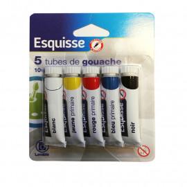 Wm Esquisse komplet 5 farb gwasz w tubkach.