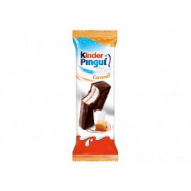 Kinder Pingui Caramel Biszkopt z mlecznym nadzieniem i karmelem pokryty czekoladą gorzką 30 g