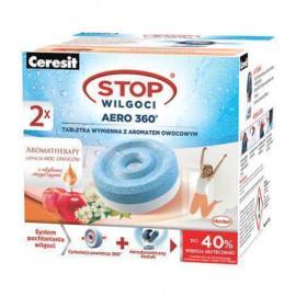 Ceresit STOP Wilgoci AERO360° 2x450g Tabletki do pochłaniaczy wilgoci (AROMAT OWOCOWY))