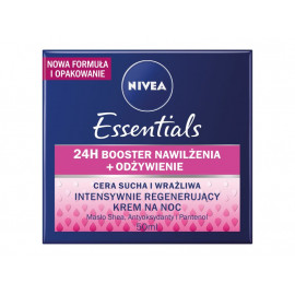 NIVEA Essentials Intensywnie regenerujący krem na noc cera sucha i wrażliwa 50 ml