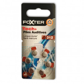 FOXTER 6 Baterii do aparatów słuchowych (nr312) bez rtęci
