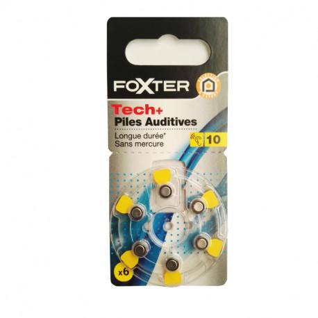FOXTER 6 Baterii do aparatów słuchowych (nr 10) - bez rtęci