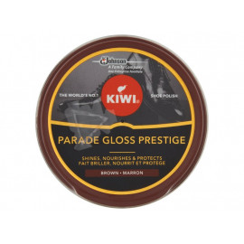 Kiwi Parade Gloss Prestige Pasta do butów brązowa 50 ml
