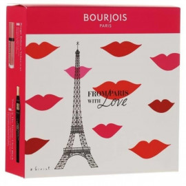 Bourjois From Paris With Love Twist Up The Volume tusz do rzęs Ultra Black 8ml + Rouge Edition matowa pomadka 010 7,7ml
