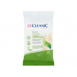 Cleanic Super Comfort Chusteczki do higieny intymnej 20 sztuk