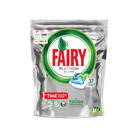 Fairy Platinum All In One Regular Kapsułki do zmywarki 37 sztuki