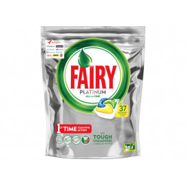 Fairy Platinum All in One Lemon Kapsułki do zmywarki 37 sztuk