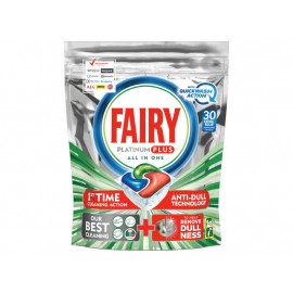 Fairy Platinum Plus Regular Tabletki do zmywarki, 30 kapsułek
