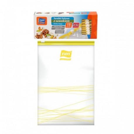 Ravi- torebki foliowe z suwakiem 2,5l 15 sztuk