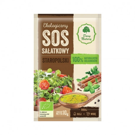 Dary Natury ekologiczny sos sałatkowy staropolski 10g