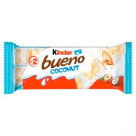 Kinder Bueno Coconut Wafel w białej czekoladzie z mleczno-orzechowym nadzieniem 39 g (2 x 19,5 g)