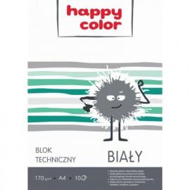 Happy Color blok techniczny biały A4 10arkuszy