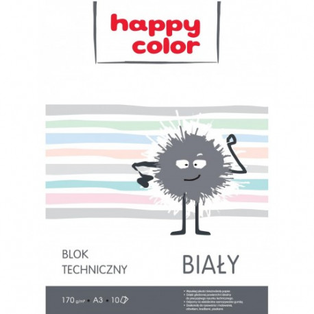 Happy Color blok techniczny A3 10 arkuszy