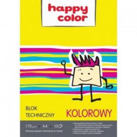 Happy Color blok techniczny kolorowy A4 10 arkuszy