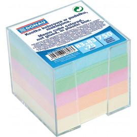Donau Kostka kolorowa w pudełku, nieklejona 750kartek 83x83
