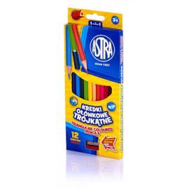 Astra-  kredki ołówkowe trójkątne 12 kolorów