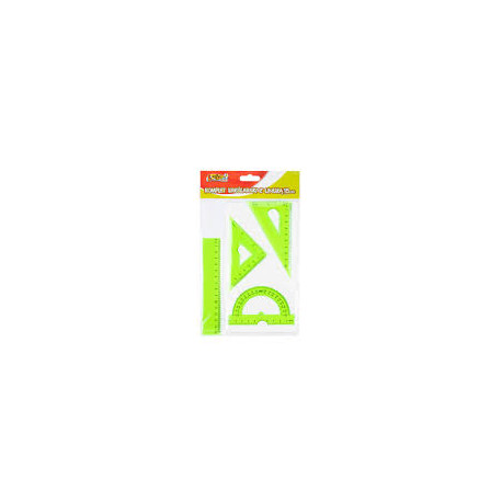 Tadeo Trading- komplet kreślarski z linijką 15 cm