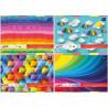 Interdruk- blok rysunkowy kolorowy barwiony w masie A4
